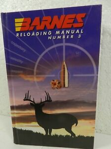 Barnes Bullets Reloading Manual Book #3 Ammunition Hardcover Gun Ammo Data
