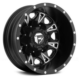 17 Inch Black Wheels Rims Dodge Ram 3500 Dually 8x200 Fuel Offroad D513 Set Of 4