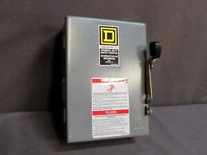 new Square D D321n 240v 30a Safety Switch