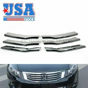 Us Fit For 2008 2010 Honda Accord Chrome Front Bumper Center Grille Cover Trims