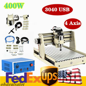 4 Axis Usb Cnc 3040 Router Engraver Wood pvc 3d Carving 400w Cutting Machine