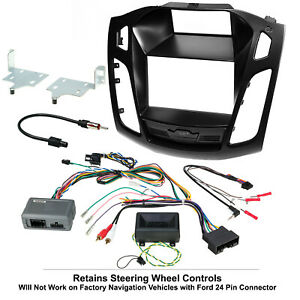 2012 2014 Ford Focus Complete Radio Stereo Installation Package Retains Swc