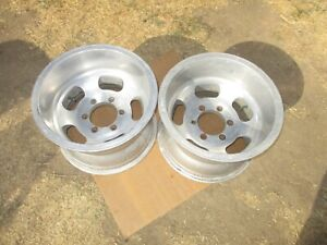 15x10 Slot Mag Wheels Rims Chevy Truck 6x5 5 Vintage 6 lug