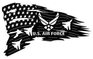 Us Air Force Flag Dxf Of Plasma Laser Cut Cnc Vector Dxf cdr Ai Art File