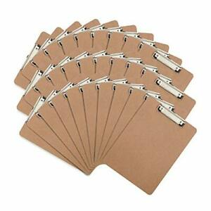 30 Hardboard Clipboards Low Profile Clip Designed For Classroom And Office