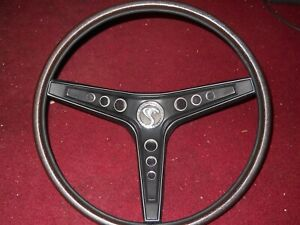 1969 Ford Mustang Shelby Gt350 Gt500 Cobra Rimblow Steering Wheel Complete Black