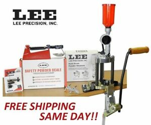 LEE Value 4 Hole Turret Press KIT w NEW Auto Drum Powder Measure New! # 90928