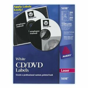 Avery Cd dvd And Jewel Case Spine Label 100 Pack Circle 2 sheet Laser