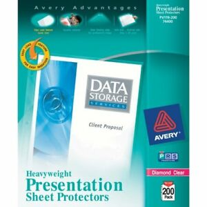 Avery Diamond Clear Top Loading Sheet Protector Letter 8 50 X 11