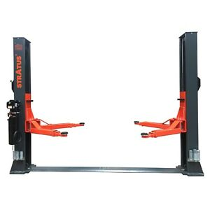 Stratus 2 Post Floor Plate 14000 Lbs Capacity 1 Point Manual Release Car Lift