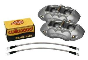 Wilwood 140 10789 Dynalite Aluminum 4 Piston Brake Caliper Kit Corvette Front