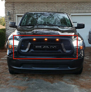 New Grill For Dodge Ram 1500 2013 2018 Mesh Rebel Style Abs Honeycomb Grille Us