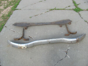 1946 1947 1948 Chevrolet Sedan Delivery Rear Bumper And Splash Pan With Brackets