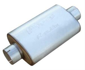 2 Pypes Mufflers Race Pro Series Stainless 3 5 Center Inlet 3 5 Center Out