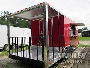 New 2020 8 5x20 8 5 X 20 V nosed Enclosed Concession Food Vending Bbq Trailer