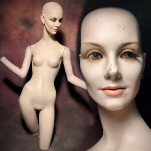 Wolf vine Mannequin Creepy Distressed Display Female Realistic Vintage Oddity