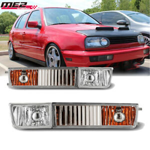 For 1993 1998 Volkswagen Golf Pair Oe Style Fit Fog Light Bumper Clear Lens