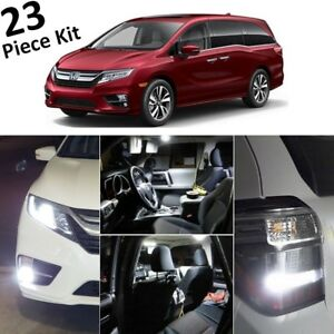 White Led Interior low Beam fog Lights For 2018 2019 Honda Odyssey tool Ho4l