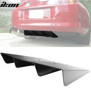 Universal Rear Bumper Diffuser Assembly Cover 22x20 In Unpainted Abs Plastic