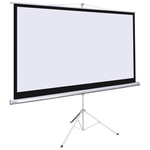 Instahibit 100 16 9 87 x 49 Manual Pull Up Tripod Projection Projector Screen