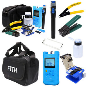 18x Fiber Optic Ftth Tool Kit Auto Switch Chargable Optical Power Meter Finder
