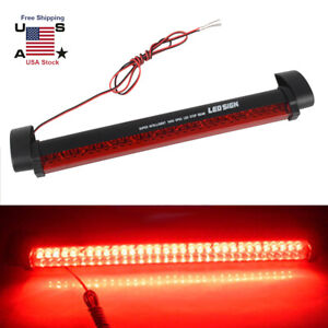 Emergency Car 32led Third Brake Tail Stop Red Rear Light Strobe Lamp Bar Strip