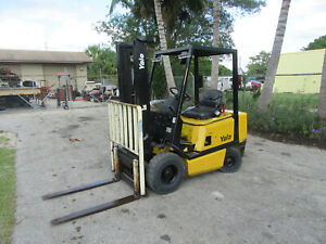 Yale Gpo040 4000 Lb Gas Forklift Side Shift Lift 127 2 Stage 2432 Hrs Pneumatic