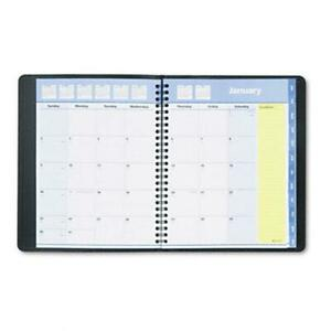 At a glance 760805 Quicknotes Unruled Monthly Planner 6 7 8 X 8 3 4 Black