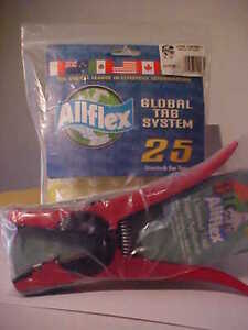 25 Allflex Global Tag System Livestock Cattle Tags Universal Tagger Applicator