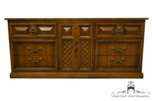 Dixie Furniture Italian Mediterranean Style 70 Lattice Door Triple Dresser 4