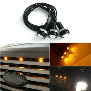 3pcs Amber Front Grille Marker Led Light Bulbs Lamps For Ford F 150 F 250 Escape