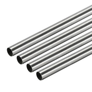 304 Stainless Steel Round Tubing 7mm Od 0 2mm Wall Thickness 250mm Length 4 Pcs