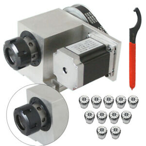 4 Axis Cnc Stepper Motor Hollow Shaft Rotary Router Standard Er32 Collet 3 20mm