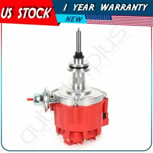 Hei Distributor With Red Cap Fits Dodge Chrysler Small Block Mopar 318 340 360