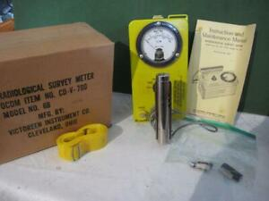 Geiger Counter Radiation Detector Cdv 700 Cdv700 Victoreen 6b W box Refurbished