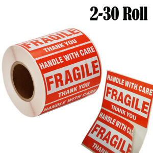 Fragile Handle With Care 2 X 3 Stickers Thank You Shipping Labels Warning Sign