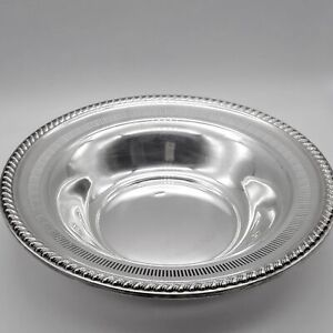 Rogers Sterling Silver Hollowware Reticulated Bowl No Monogram 9