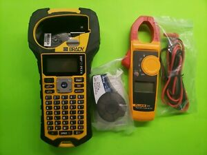 Brady Bmp21 plus Fluke 323 Handheld Label Printer And Electrical Meter Used