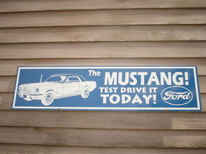 New Early Ford Mustang Dealer service Sign ad W vehicle Graphic garage Art