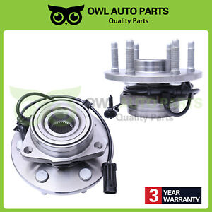 Front Pair 2 Wheel Hub Bearing Assembly Fit Chevrolet Express Silverado 515036