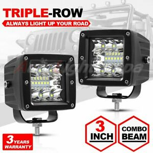 2x 3inch 120w Cube Pods Cree Led Work Light Driving Fog Spot Light Flood 12v