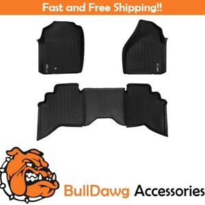 Smartliner All Weather Floor Mats Liner For Dodge Ram Quad Cab Front Set Black