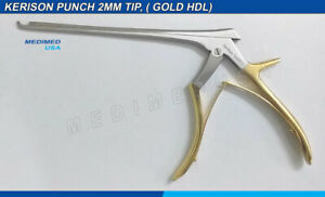 Kerrison Rongeur Silver Gold 2 Mm 7 Up 45 Degree