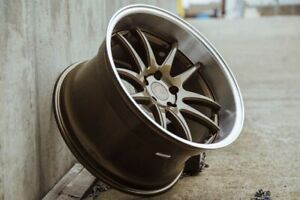 Aodhan Ds02 Wheels 19x9 5 15 5x114 3 Bronze With Machined Lip 19 Inch Rims Set