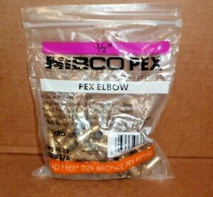 25 Pack Nibco Pex 1 2 Elbow Px80631a Lead free Bronze Barbed Fitting Lot New