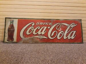 1930 Original Coca Cola Tin Sign