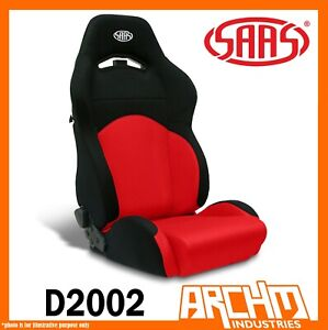 Saas Gt Car Seat Sports Dual Recline Black red Comfort Support Adr D2002