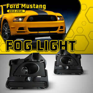 Fits 13 14 Ford Mustang Fog Light Projector Clear Assembly Lamp Pair W wring Kit