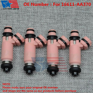 4x Oem New Pink 565cc Fuel Injectors For Subaru Sti Wrx Forester 16611 Aa370 Usa