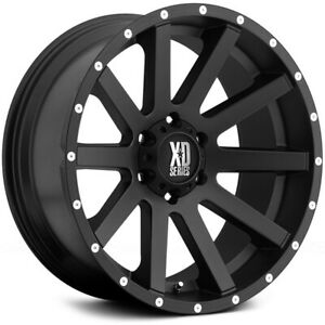 20 Inch Black Wheels Rims Lifted Gmc Sierra 1500 Truck Yukon 6 Lug 20x10 Xd818
